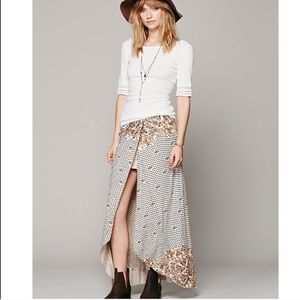 Free People Column Maxi Skirt in Antique Combo